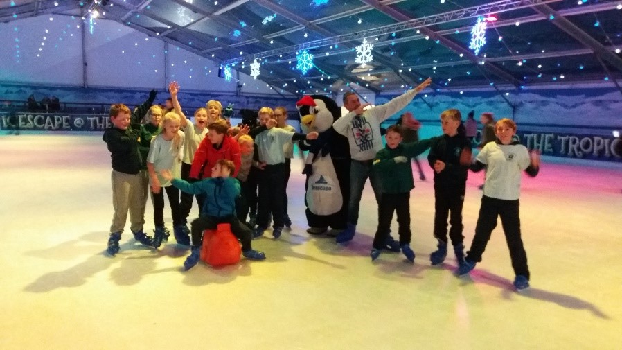 Scout Troop Ice Skating at Weston-super-Mare