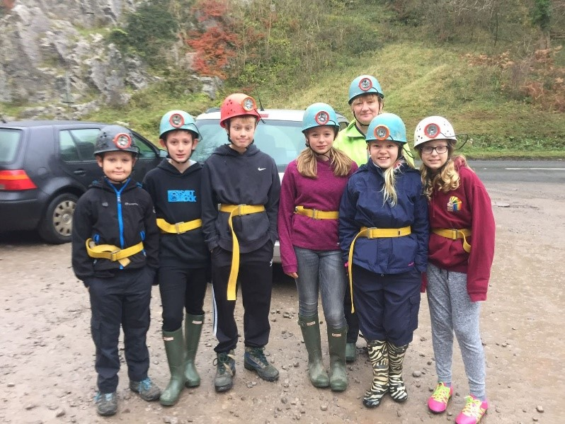 Scout Troop out Caving